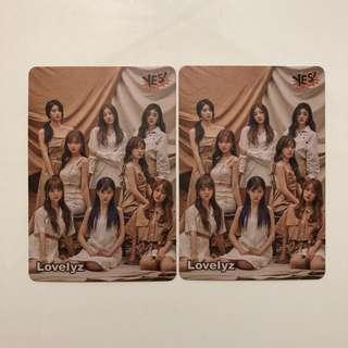 Lovelyz Yes! Card 第37期 白卡