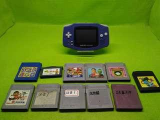 GAME BOY 任天堂彩色機附加多款卡帶遊戲有合卡