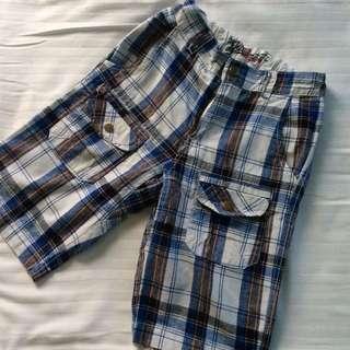 Garfield Checkered Blue Shorts