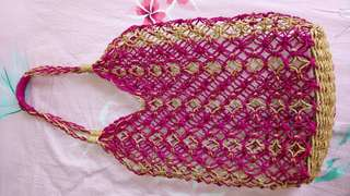 菲律賓手織沙灘籐袋