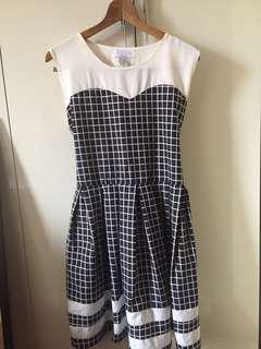 B&W Grid Dress