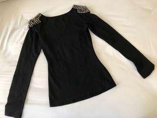 Brand new Love Bonito black studded Top size XS