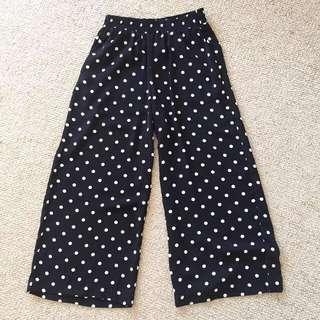 Topshop Black Polka Dot Culottes