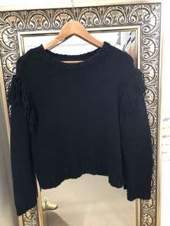 Rollas black knit jumper