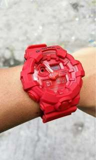 GA-700 RED OUT GSHOCK WATCH