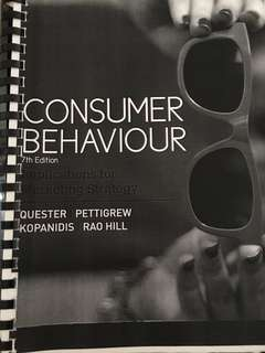 RMIT Buyer Behaviour Textbook & Lecture Notes