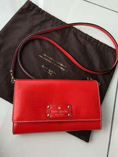 Price Reduced: Kate Spade Sling/Clutch 2-in-1 Excellent Condition