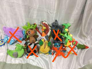 Assorted pokemon stuffed toy