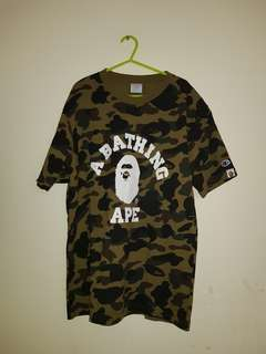 [100% ORIGINAL] Bape (A Bathing Ape) × Champion tee