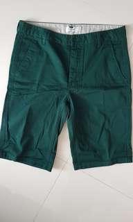 "BNWOT Topman Green Slim Fit Bermudas Waist 32"" (unwashed)"