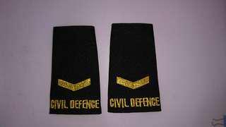 全新Civil Defence 機師臂章~購自新加坡消防局