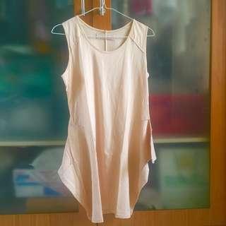 cotton ink cream sleeveless top