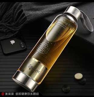 Glass water bottle with filter for tea  550ml