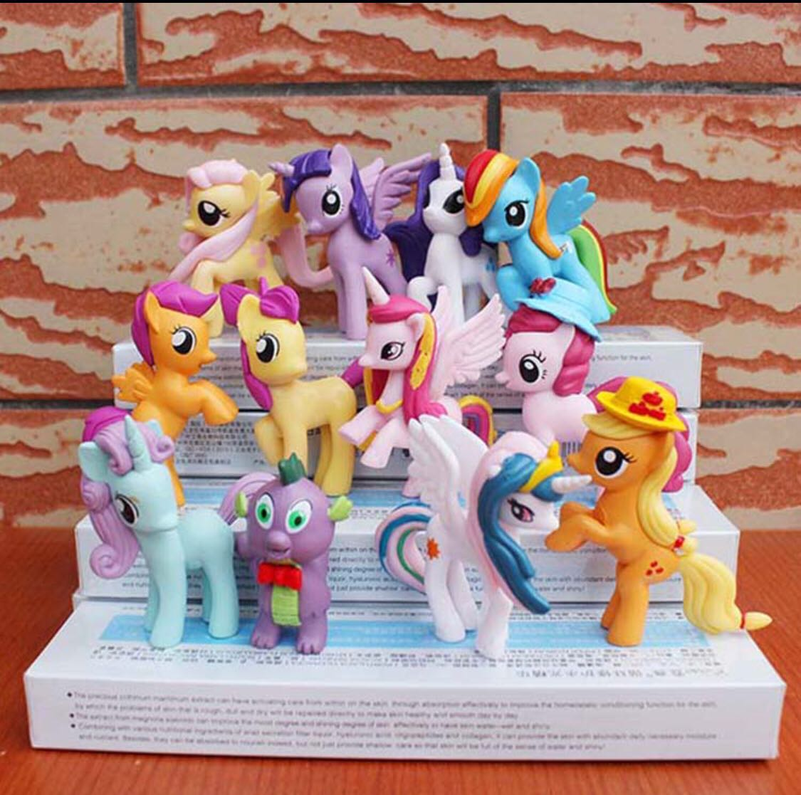 12 Pcs Medium My Little Pony Cake Topper Figurine Toy Cupcake