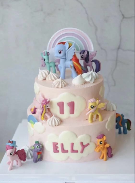 12 Pcs My Little Pony Cake Topper Figurine Toy Cupcake Decoration Toppers Figure Birthday Not Fondant Toys Games Bricks Figurines On Carousell