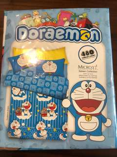 Doraemon single Bed Sheet Set microxt sateen collection