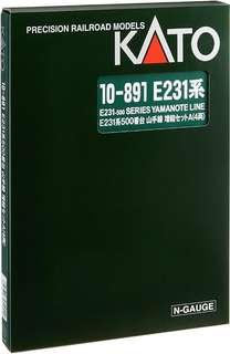 全新現貨Kato 10–891E231 系山手線增結套装 ( 4輛 ) N gauge (非Tomix Tomytec)