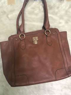 Brown shoulder bag