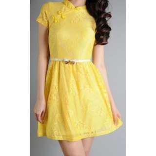 Elegant Lace Cheongsam Dress#mcsfashion