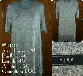 Vibe Knit/ Cotton Jersey Dress