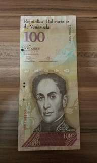 委內瑞拉100元紙幣