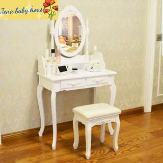 Dressing Table With Stool - INSTOCK