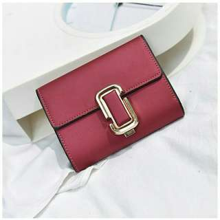 Square Clip Short Purse Wallet