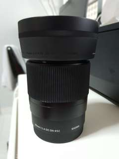 Sigma 30mm f1.4 for e-mount