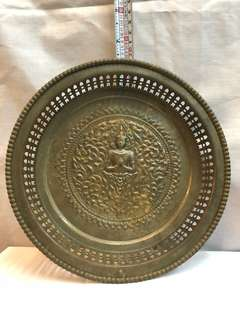 Rare antique Buddha Copper Plate