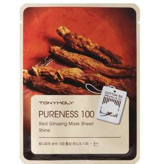 Tony Moly Pureness 100 RED GINSENG Mask Sheet