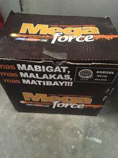 Mega force maintenance free battery