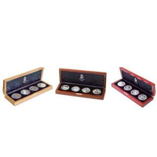 2008 Beijing Olympic Games Complete 12- Silver Coin Set - Series I, II & III (Authentic COAs Included)