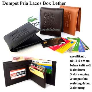 Dompet Branded Pria Lacos Box Leather