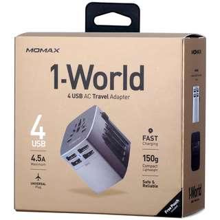 Momax 1world 4Port 旅行轉插充電器
