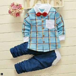 Setelan Anak - Baju Anak Korea Line Boy