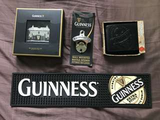 Set of Guinness merchandise