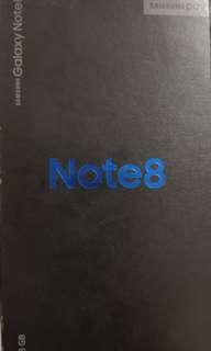 三星note 8 99.99%新 6GB+128GB 全美同新機無差別 已更新軟件安卓8.0.有盒有單購自18年2月中,行貨仲有7個多月行保。所有配件又齊又新,雙卡雙待高通S835處理器。