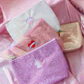Glittered Unicorn Pouch