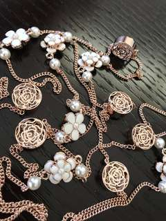 Brand new Korean Rose Gold Camellia Necklace