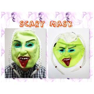 < CATZ > Scary Mask Halloween Props Halloween Face Mask Party Accessories