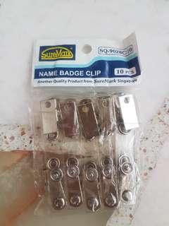 Name badge clip