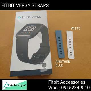 New product alert!  More colors for the Fitbit Versa Rubber Straps White Another Blue  Price: 500 PHP each Available in S or L colors