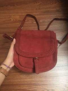 vintage mini bag maroon