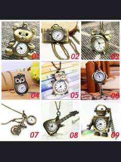 Luxury Unisex Unisex Bronze Vintage Quartz Pocket Watch For Necklace Clock Hour Bell