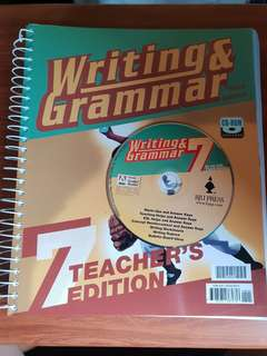 BJU WRITING AND GRAMMAR 7 TEACHER'S EDITION