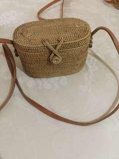 Rotan bag vintage