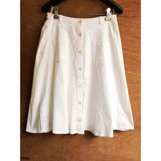 日牌🇯🇵Majestic Legon純白口袋排釦裙