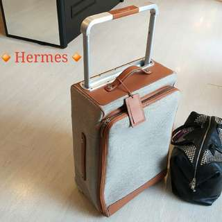 Hermes Caleche-Express Rolling Suitcase🍊