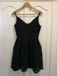 Black Laced Cocktail Dress