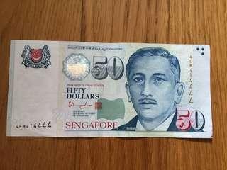 Singapore Portrait $50 4EM414444